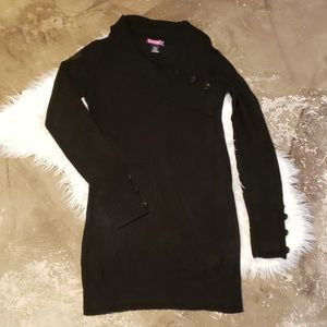 Large Black tunic sweater long sleeve